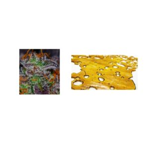 Luxury Dabber Combo – 1/8 oz of Top Shelf Flower and 1 gram of Cannabis Shatter
