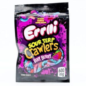 Errlli Sour Terp Crawlers Edible Cannabis Gummies (600mg) Topshelf