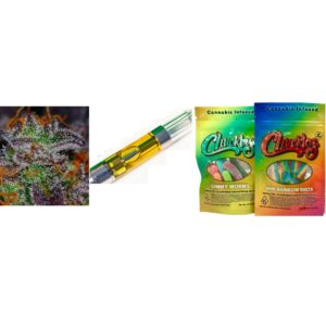 Supreme Combo – One Premium Cart, 1/4 oz of Premium Flower, Two 100 mg Cereal Bars